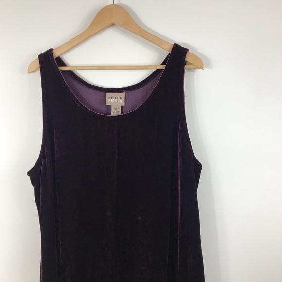 Eileen Fisher Dresses & Skirts - EILEEN FISHER | Burgundy Velvet Maxi Tank Dress